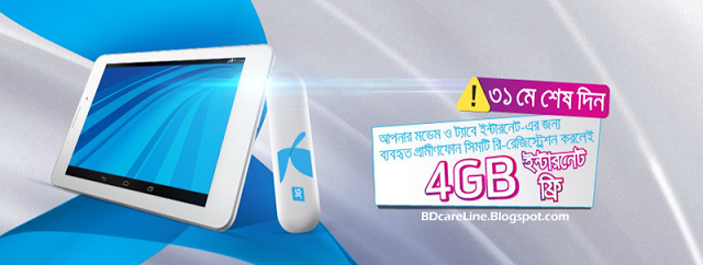 GP 4GB Free Internet Data Offer For SIM Biometric Re-registration