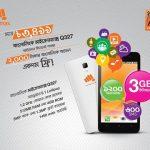 Buy MICROMAX Q327 Smartphone Only 3499 Tk With Banglalink 2000 Taka Bundle