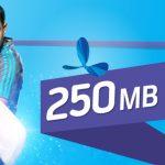GP 250MB internet Data Packs 31TK for 3Days